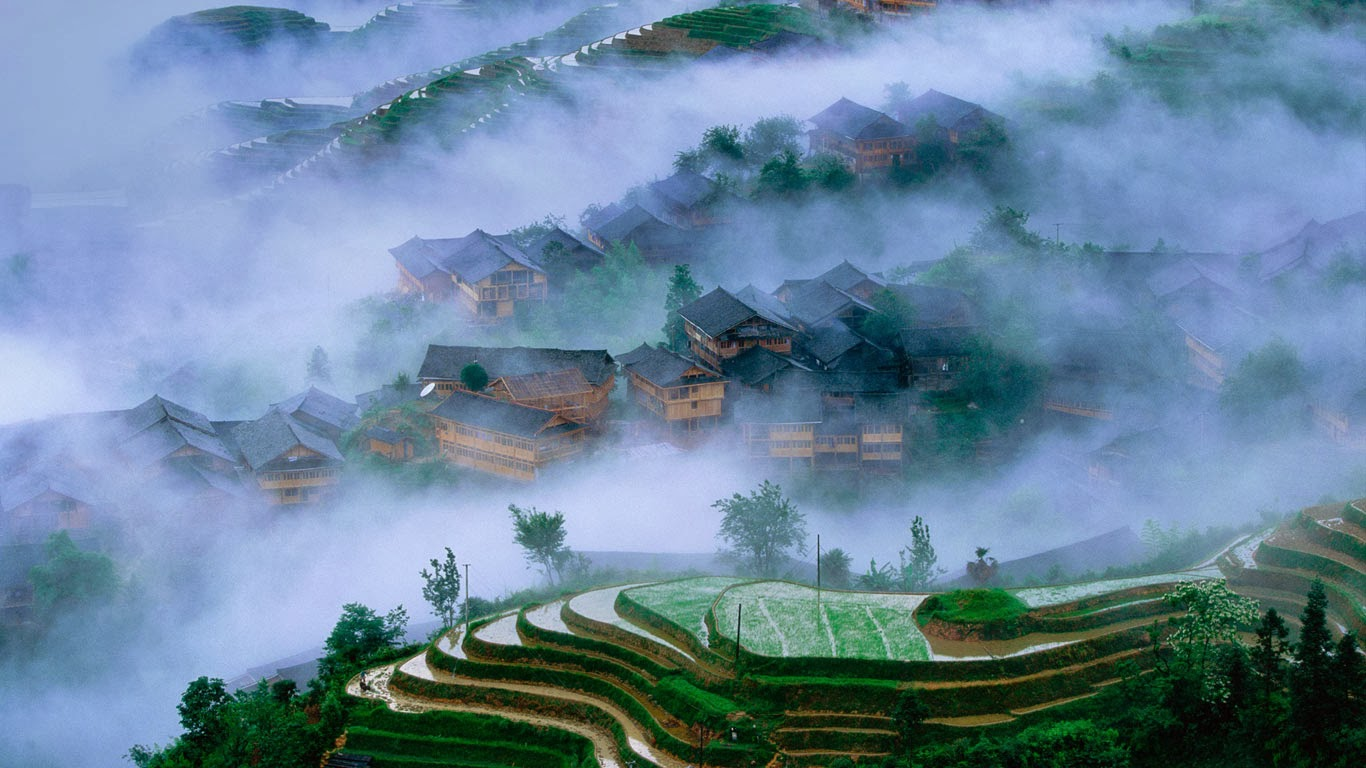 Longsheng rice terraces, Guangxi, China (© Redlink/Corbis) 361