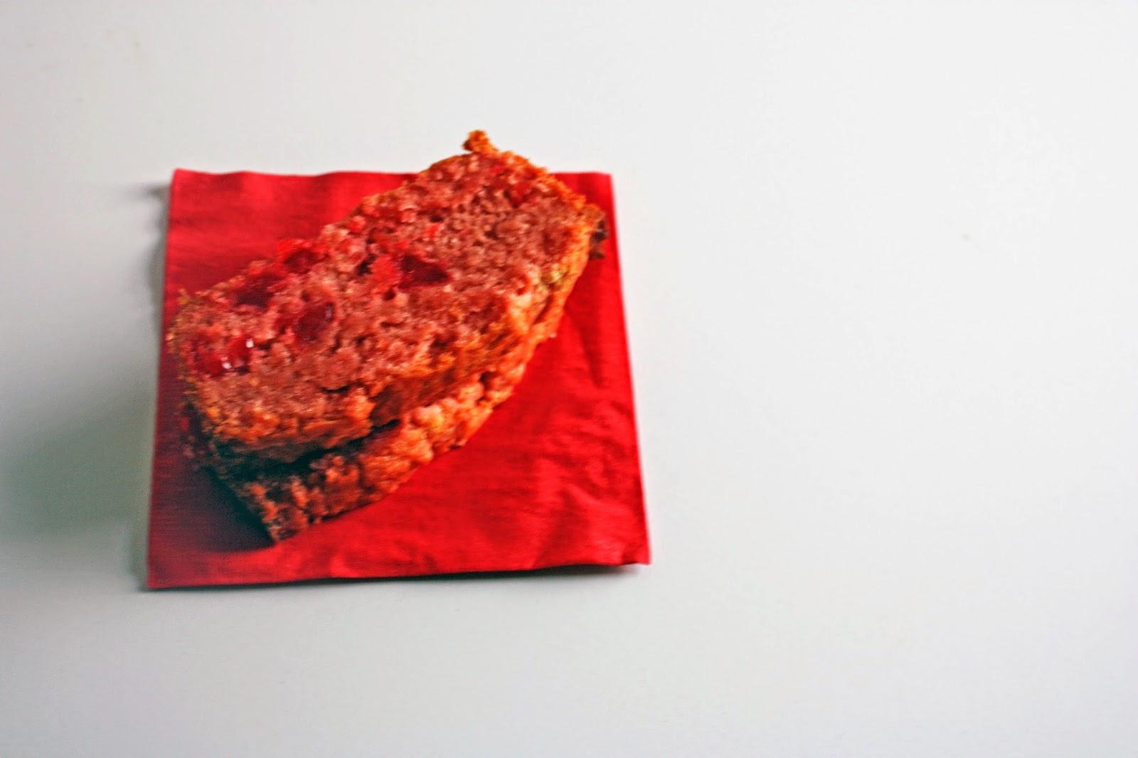 vegan maraschino cherry quick bread