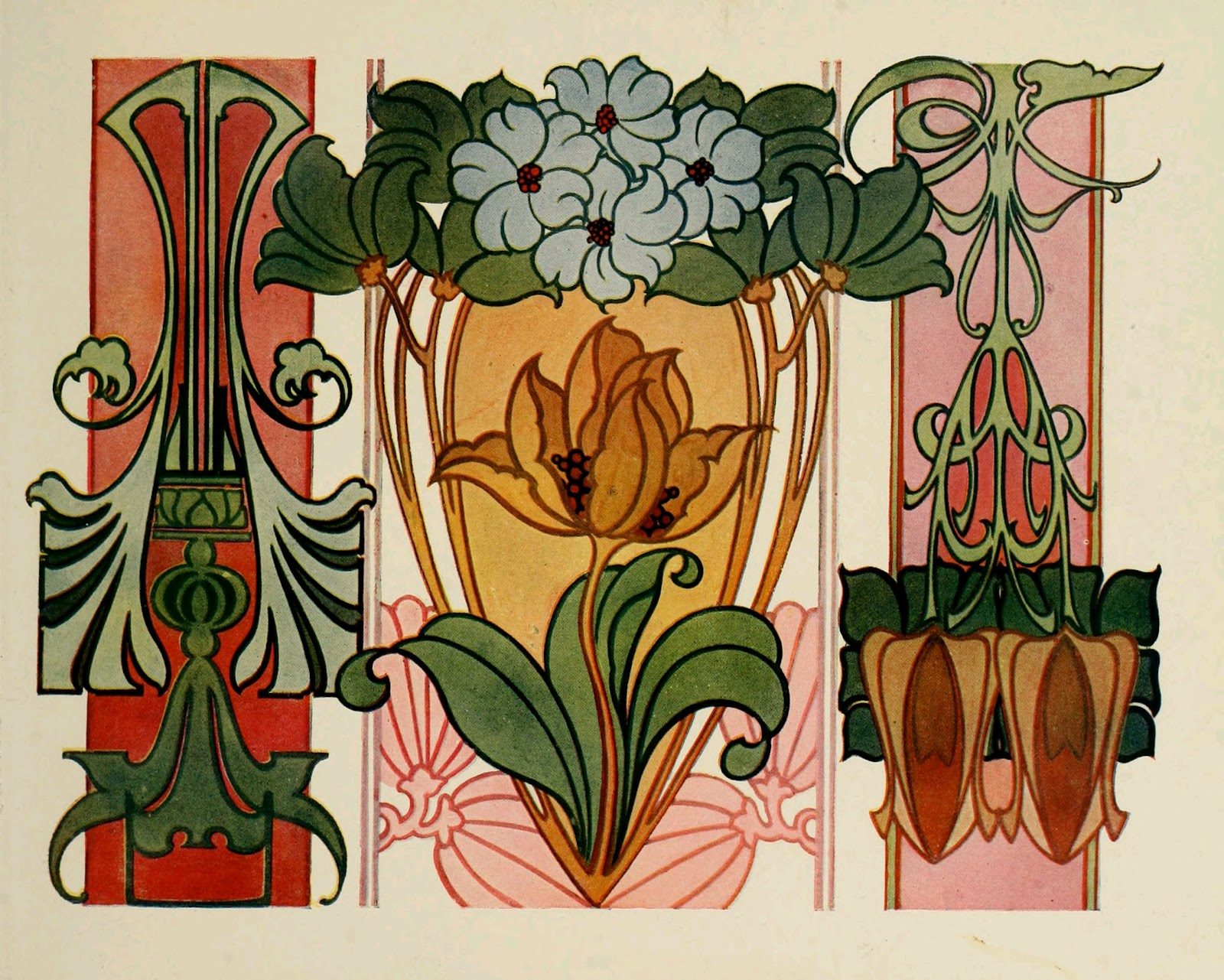 Beautiful art nouveau designs for Art nouveau shapes