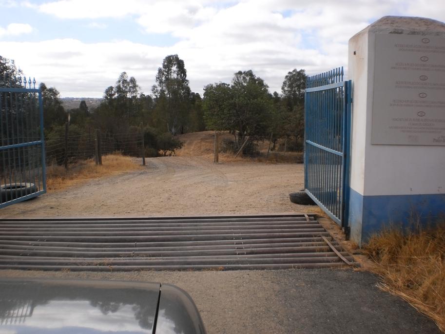 Portão de entrada do Pulo do Lobo