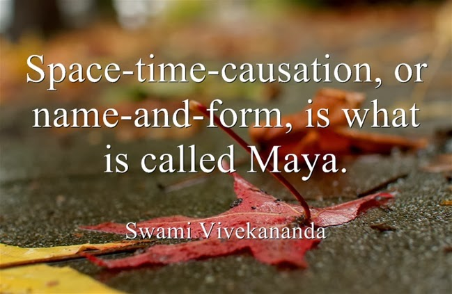 Space-time-causation, or name-and-form, is what is called Maya.