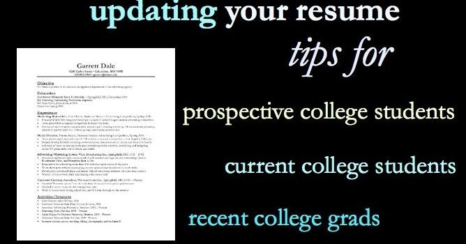 real college student of atlanta  updating your resum u00e9