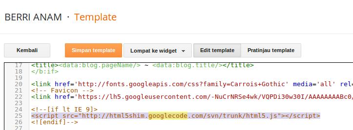 contoh kode google code