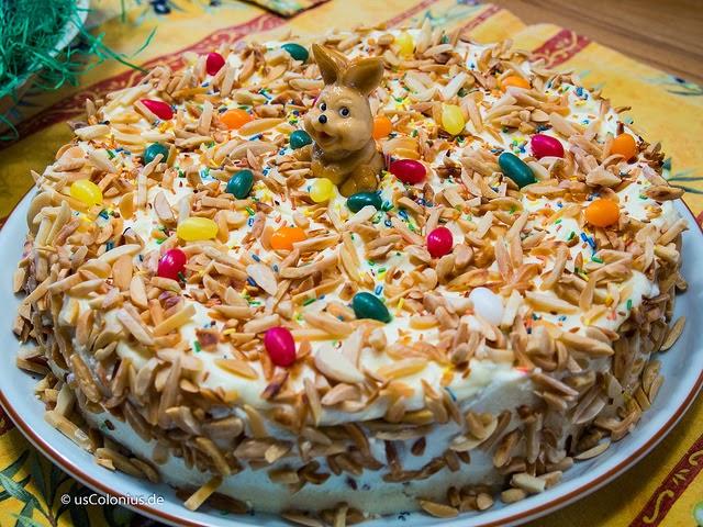 Aus dem Lameng: Karottenkuchen nach Jamie Oliver... Österlich ...