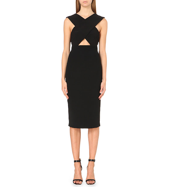 solace london black dress, solace criss cross dress,