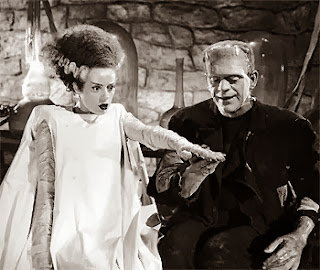 Frankenstein monster and wife