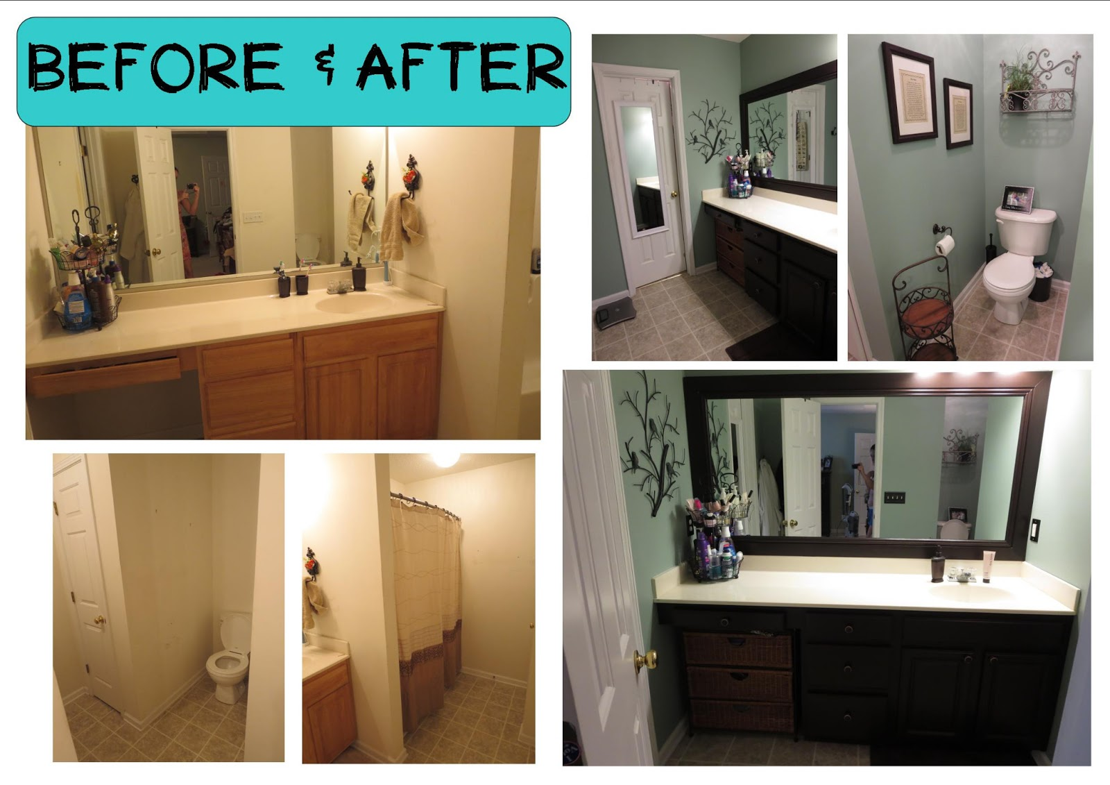 Finding fairy tales diy project 1 bathroom remodel for Diy bathroom remodel before and after