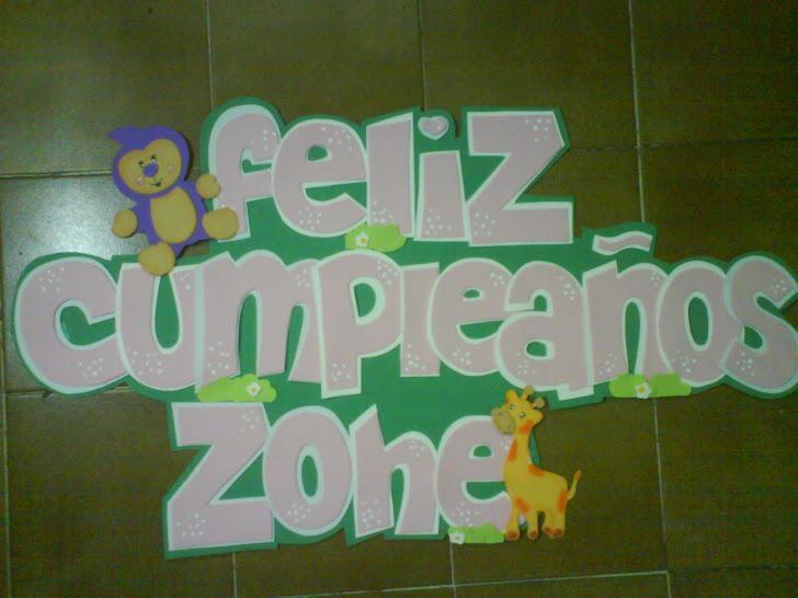cartel para cumpleaños en goma eva, de animales de la selva