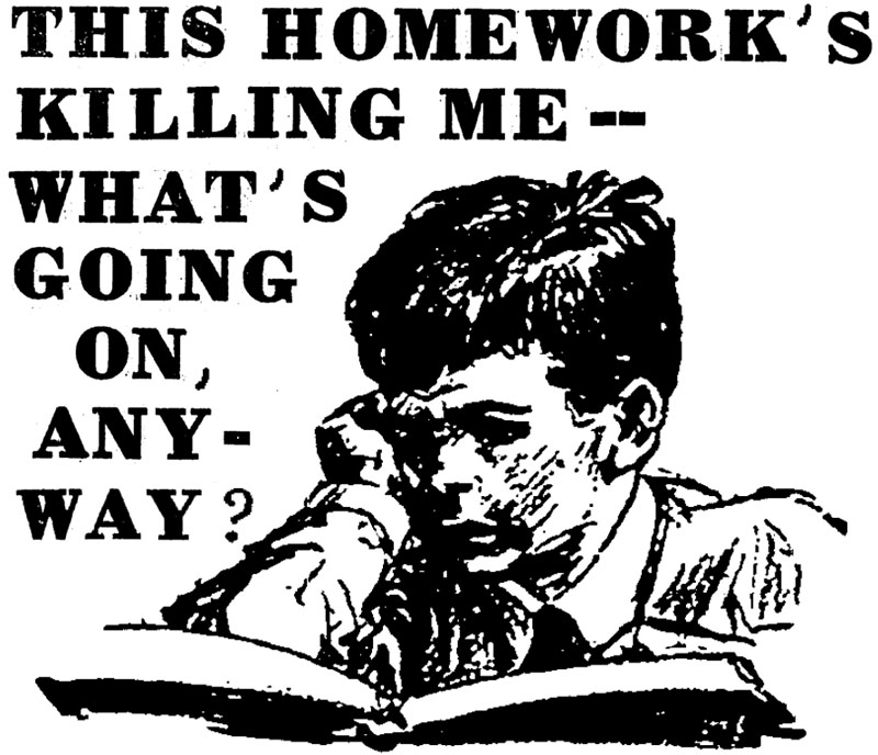 how to get out of a homework slump