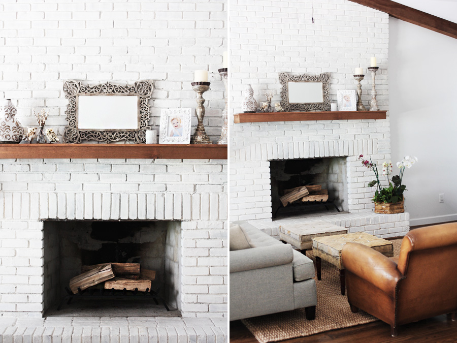 White Brick Fireplace Mantels Abode Love A Man 39 S Home Is His Wife 39 S