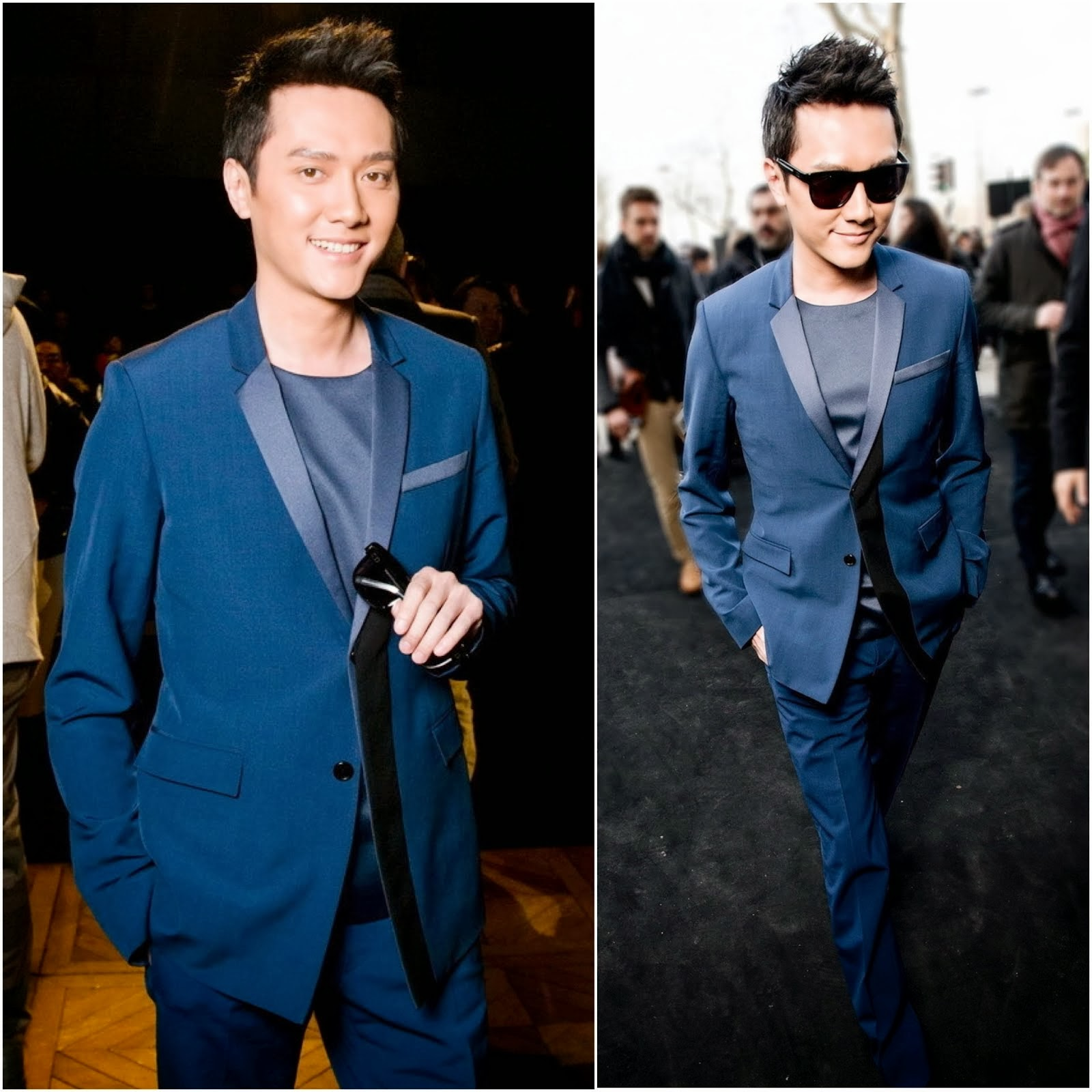 Feng Shaofeng [冯绍峰] in Dior Homme - Paris Fashion Week Fall Winter 2014