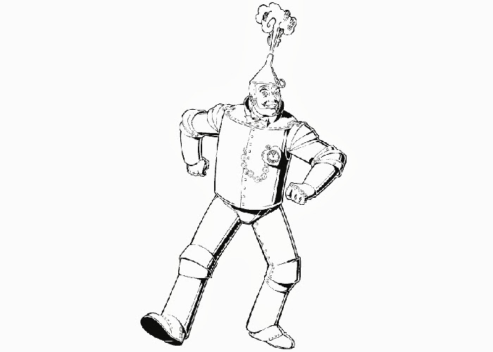 Wizard of Oz tin man coloring pages title=