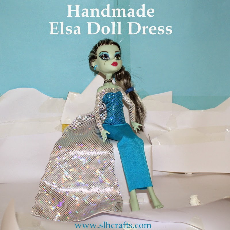 handmade elsa doll dress
