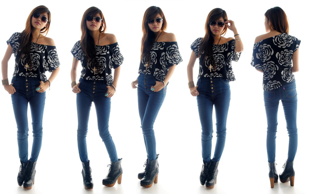 WONDERSTELLAR vintage inspired denim high waist jeans