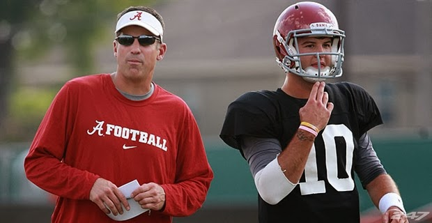Alabama offensove coordinator Doug Nussmeier defects to Michigan.