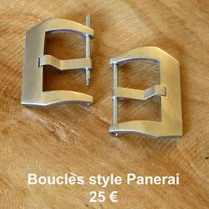 Boucles vissées en acier brossé (disponibles en 24 et en 26)