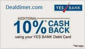 Yes-bank-debit-card-snapdeal-10-cashback