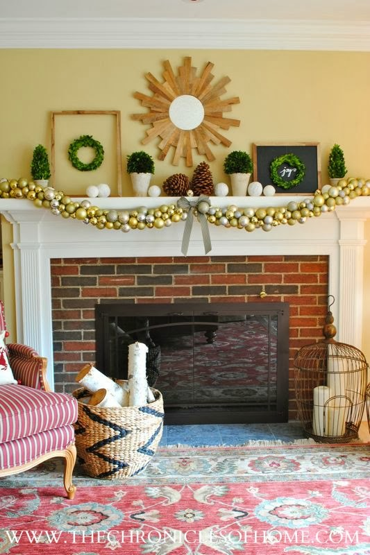 Easy DIY ornament garland from The Chronicles of Home