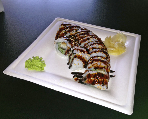 Eel Roll at Nomzilla Sushi Restaurant in Nashville Tennessee