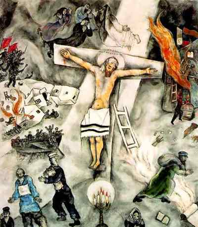 coromandel preachings: The Important Journey Chagall White Crucifixion