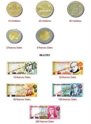 todas las monedas de cada pais
