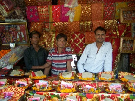 Shop owner in his market stand, Delhi