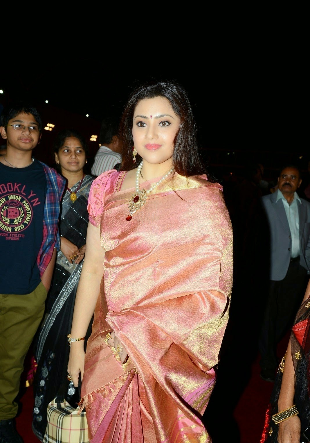 Actress Meena Latest Cute Hot Spicy Photos Gallery At TSR Grandson Rajiv Marriage