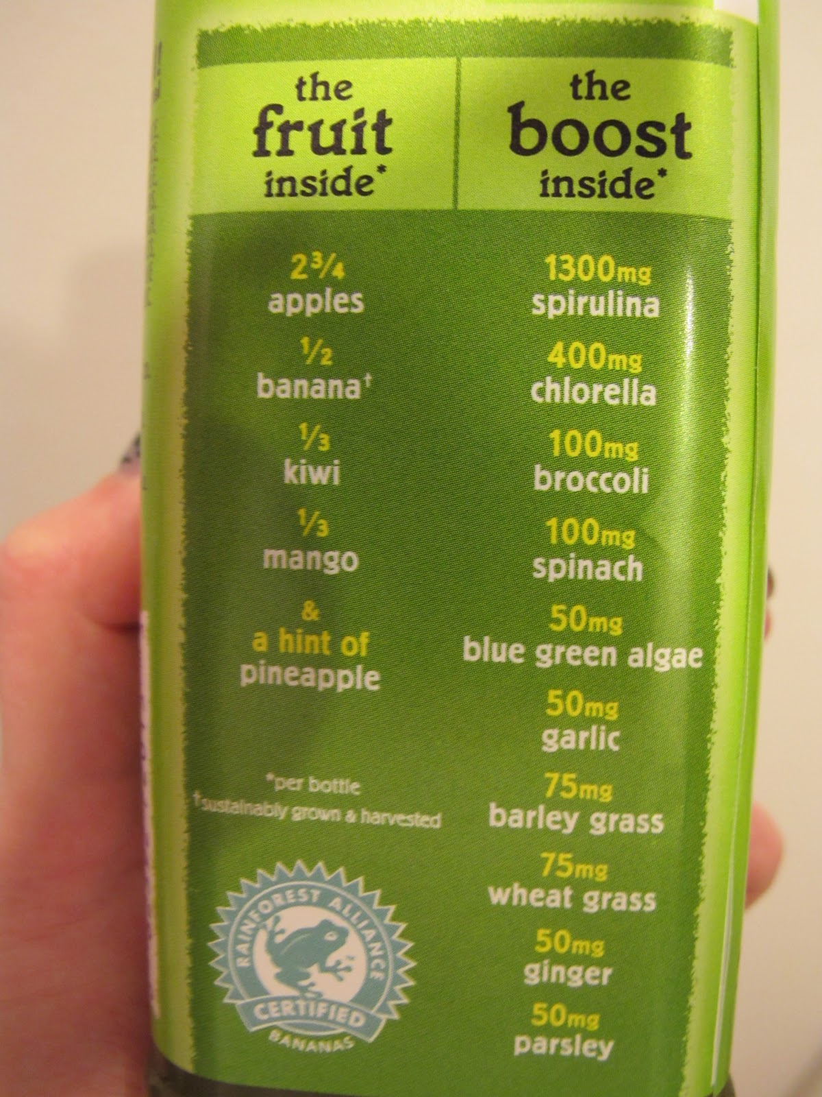 green machine ingredients