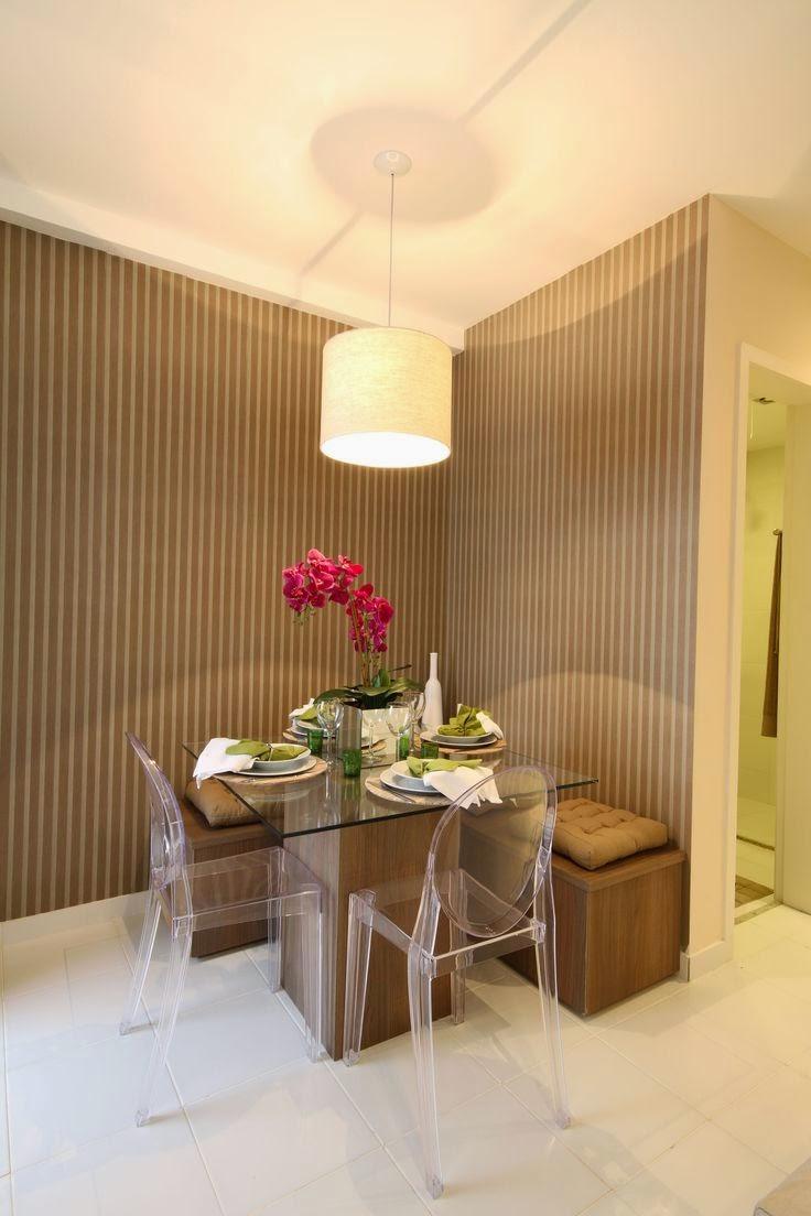 Banco Em Sala De Jantar ~ 20 Salas de jantar pequenas!!  Jeito de Casa  Blog de Decoração