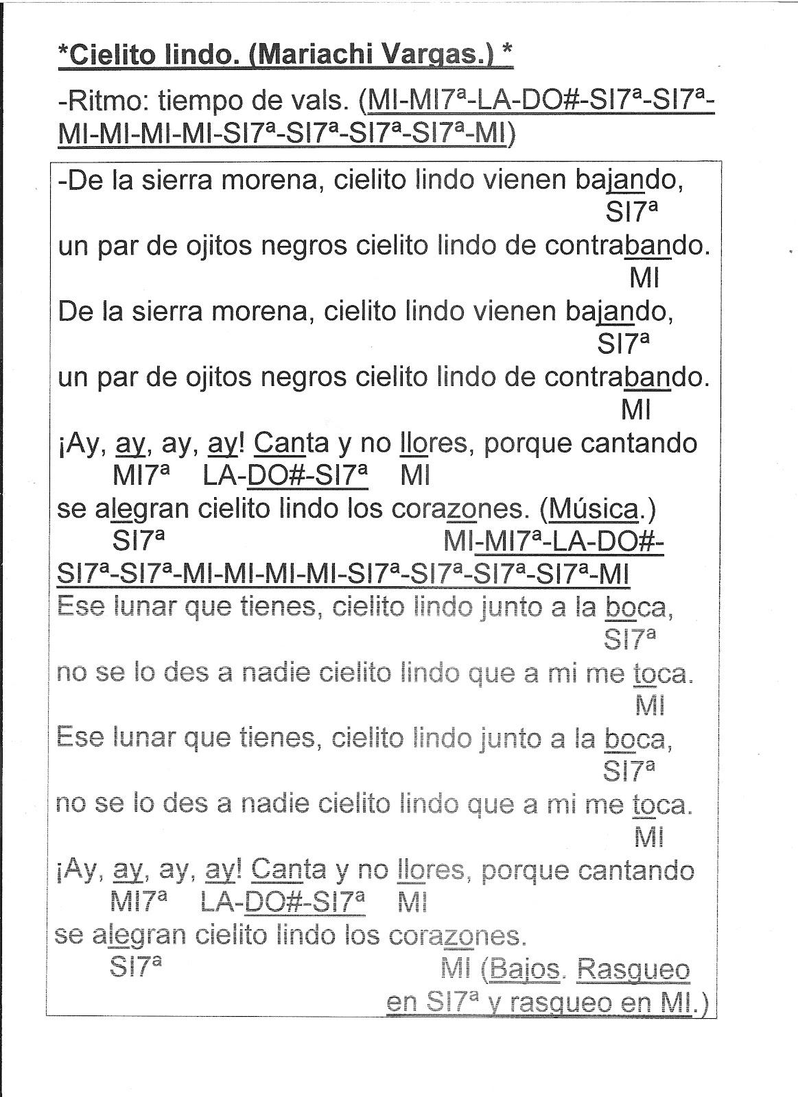 letra de flauta de la cancion: