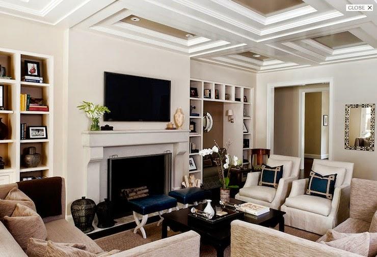 Lareira Na Sala De Tv ~  Salas Com Tv E Lareira ~ Várias idéias de design atraente para a sua