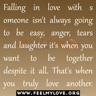 Falling in love with someone isn't always going to be easy