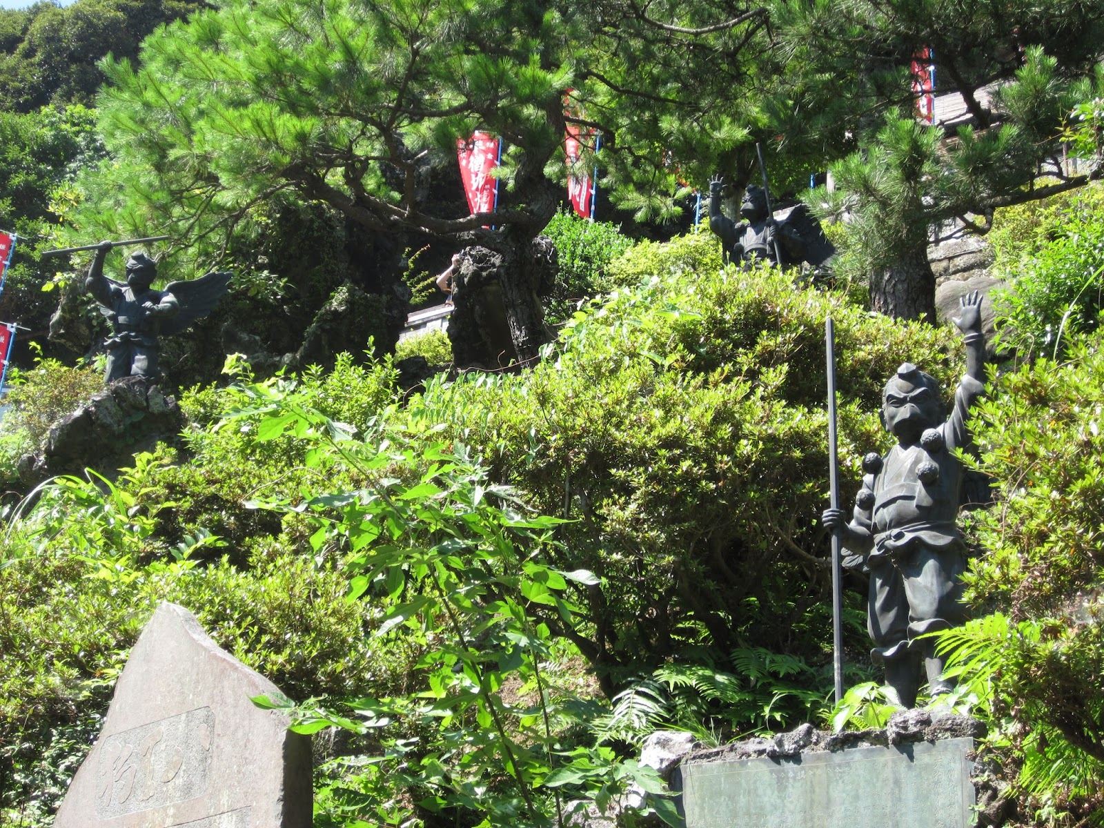 The japan chronicles crows in japan menace or guide of the gods the fierce crow tengu standing guard at the top of the mountain behind kench ji biocorpaavc