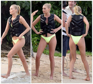 The Elsa Hosk, 27's style seriously starting to get warm in a yellow bikini on Monday, December 14, 2015, while the blazing of St. Barts sun are also irradating the inspiration poses for Lais Ribiero, 25, and Martha Hunt, 26.