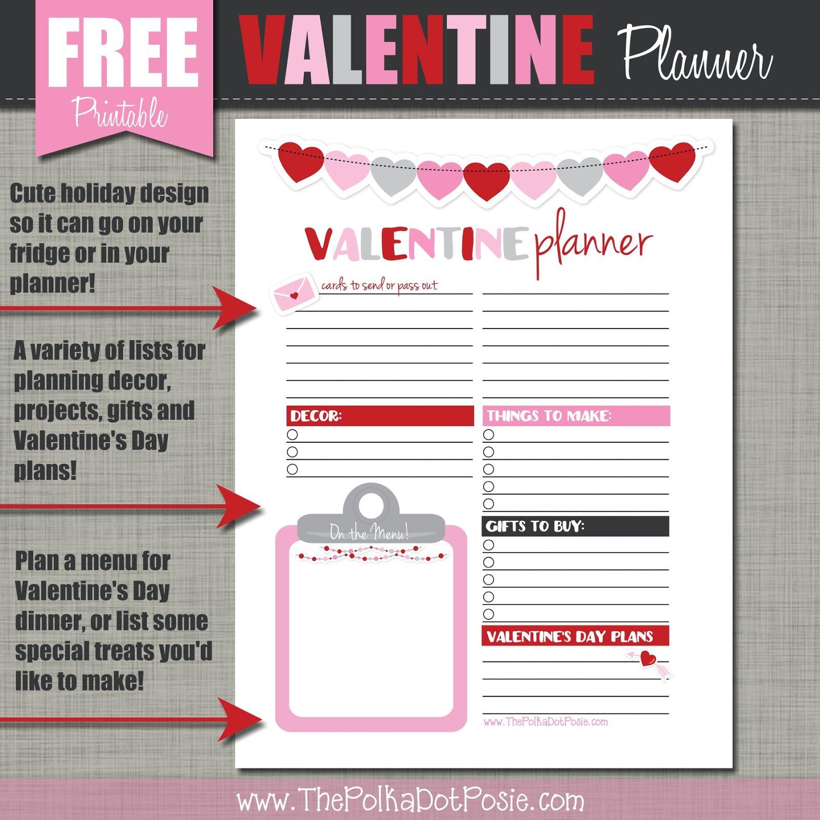 FREE Valentine's Day Planner!