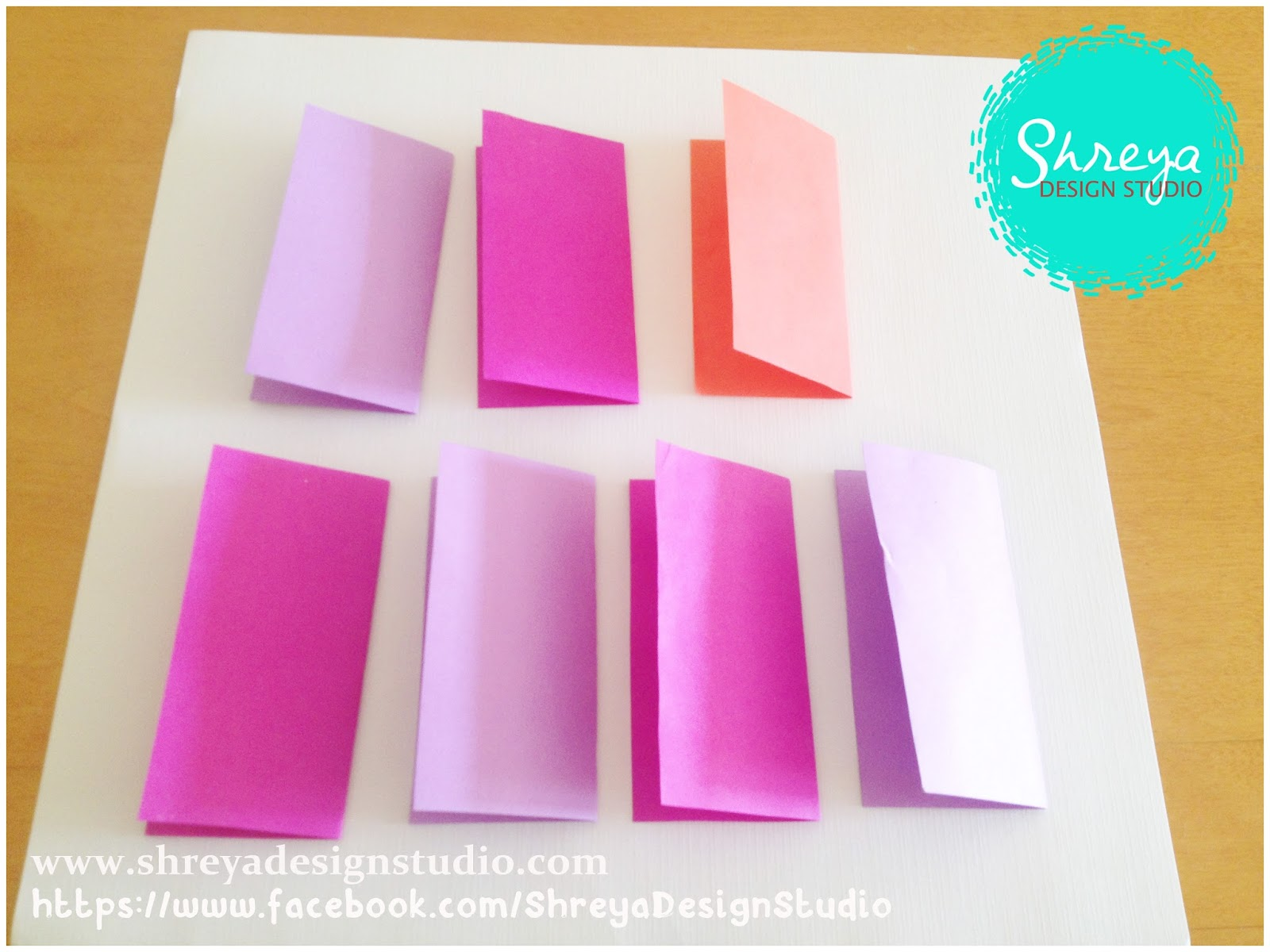 Tutorial how to make a seven flower pop up card shreya design make the second fold they take the shape of a square again kristyandbryce Gallery