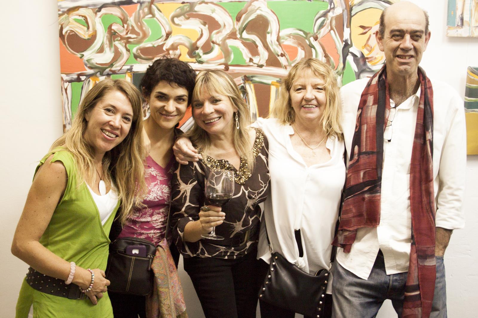 Los cinco expositores en Espacio Cultural Abierto