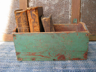 early box in original red and green paint