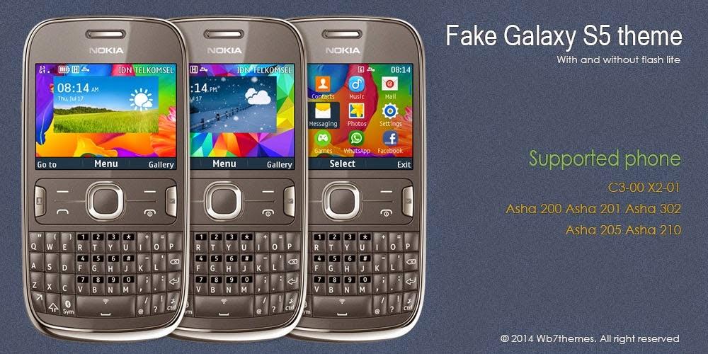 Tema Galaxy S5 Untuk Nokia C3-00 | ASHA 203 : Nokia S40