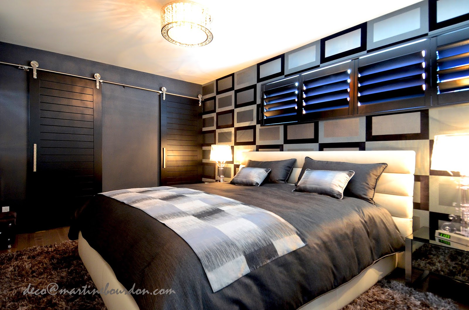 L 39 espace d co un condo une chambre coucher et du style for Decoration chambre coucher moderne