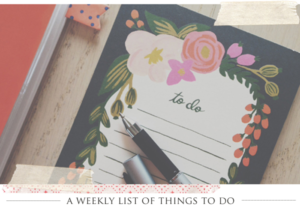 weekly to-do list | yourwishcake.com