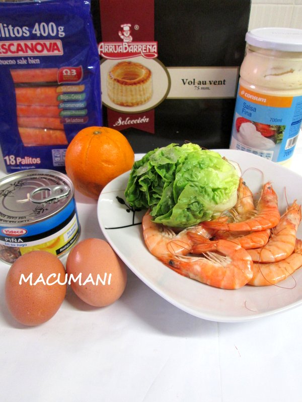INGREDIENTES ENSALADILLA TROPICAL