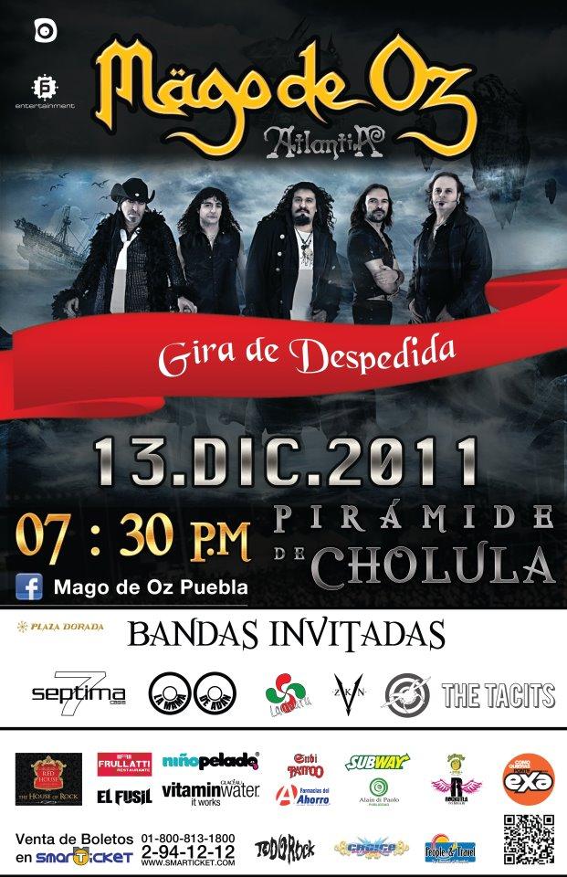 Places Puebla: Mago de Oz Gira 2011