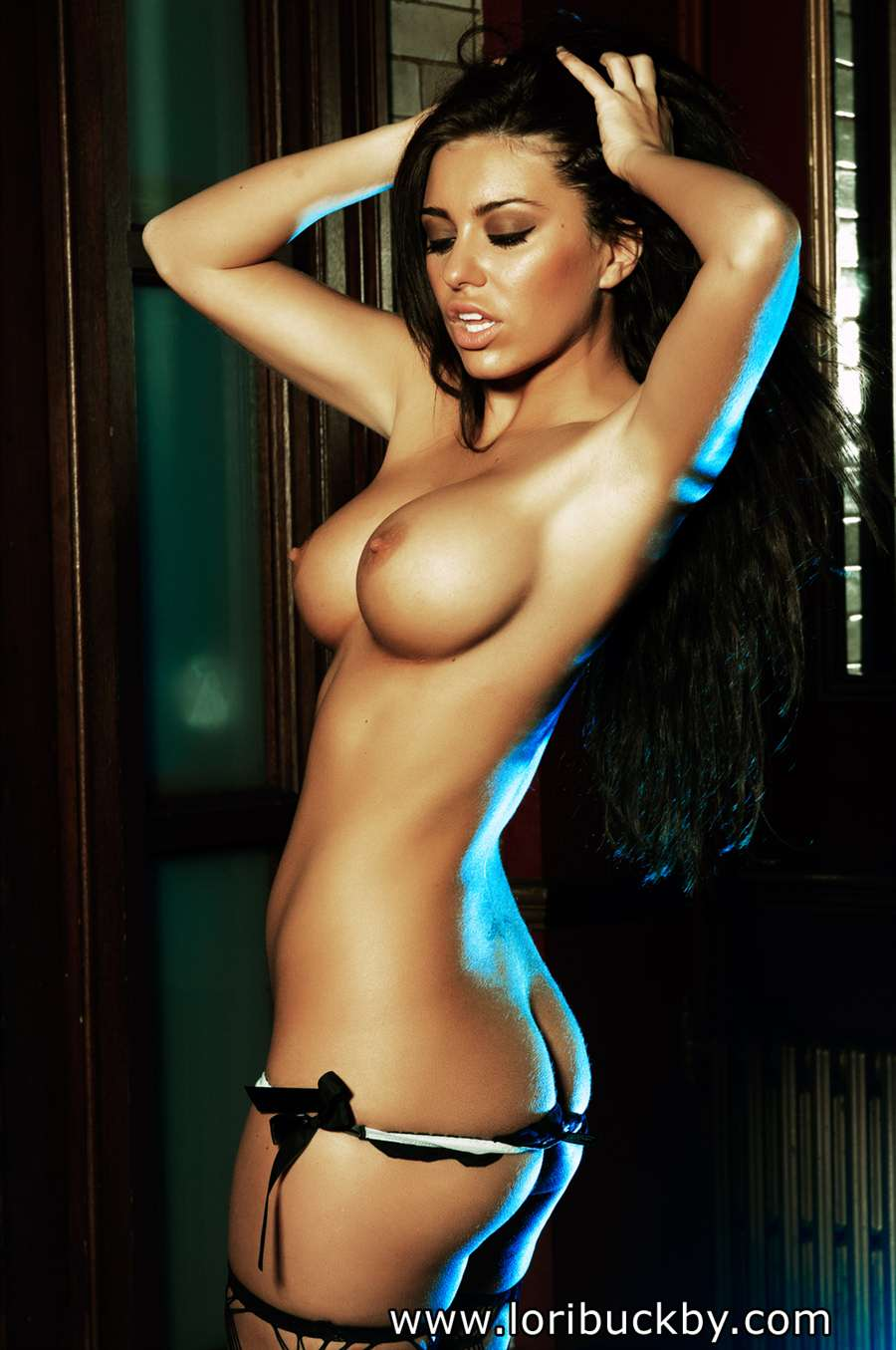 Lori buckby totally naked on back on table