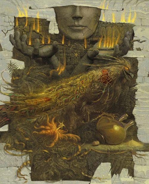 Andrew Ferez 25kartinok deviantart ilustrações sombrias surreais Sinais do destino