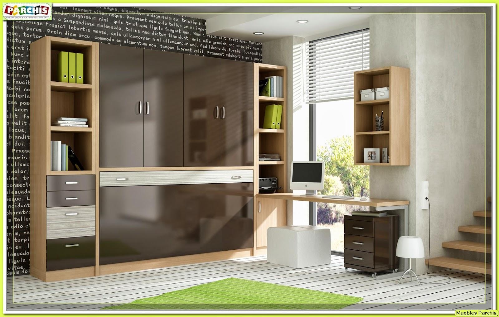Cama mesa abatible camas autoportantes camas abatibles - Habitaciones juveniles camas abatibles horizontales ...