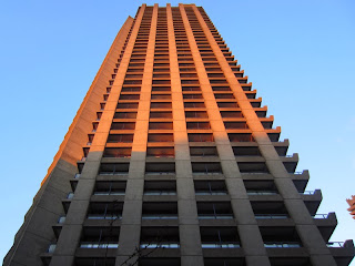 A residential tower at London's Barbican Complex