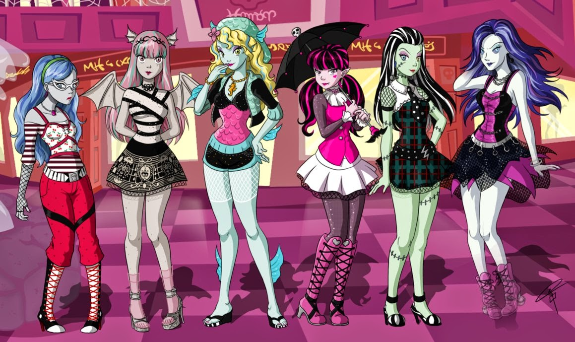 dibujo de monster high anime