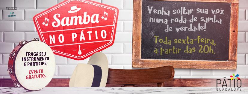 """O sucesso é tão grande que o """"Samba no Pátio"""" do Shopping Jardim Guadalupe  será ampliado. A partir do dia 23 de junho, a roda de samba passará a ser  ... 5499c492b0"""