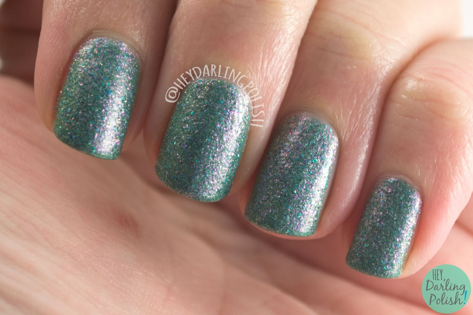 nails, nail polish, indie polish, kbshimmer, hey darling polish, teal another tail, swatch, teal, shimmer